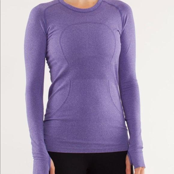 f7ce51759da8b0 lululemon athletica Tops - LULULEMON purple Swiftly Tech 8 long sleeve top